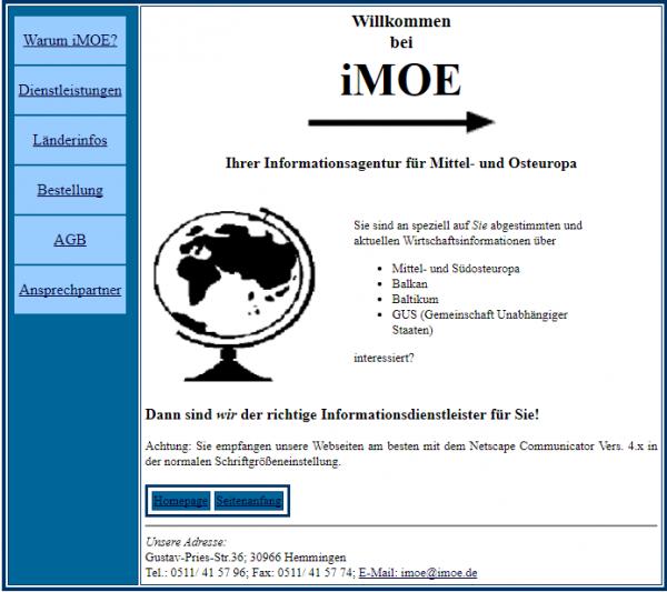 imoe wird gegründet 1998