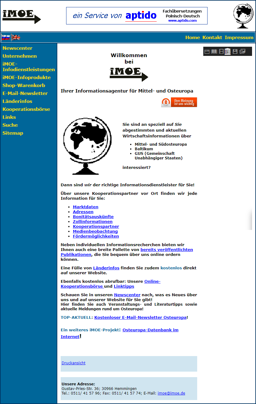 imoe changed its legal form to GmbH in 2005